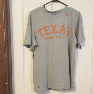 Nike Texas Longhorn Football Dry Fit Tshirt Small